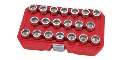 "8PC 1//2/"" Chrome Molybdenum Wheel Bolt Nut Key Removal Tool Set For Van Caravan"